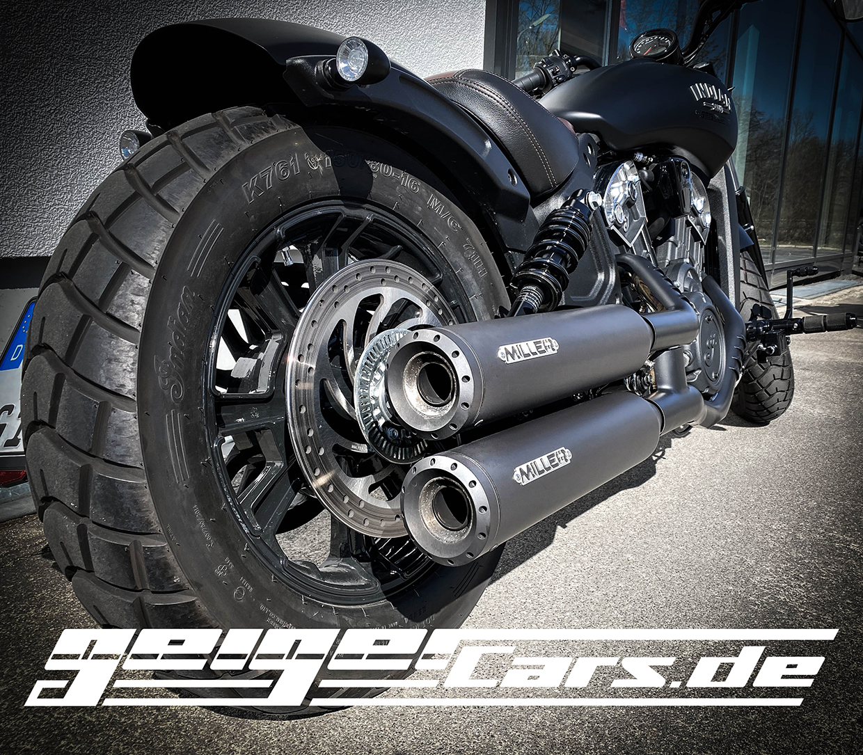 Indian Scout Scout Bobber Miller Sportauspuff Geigercars Home Of Us Cars